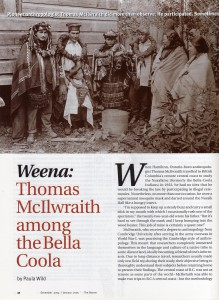 Thomas McIlwraith among the Bella Coola